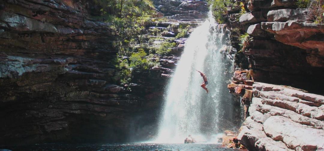 Sossego waterfall and canyon