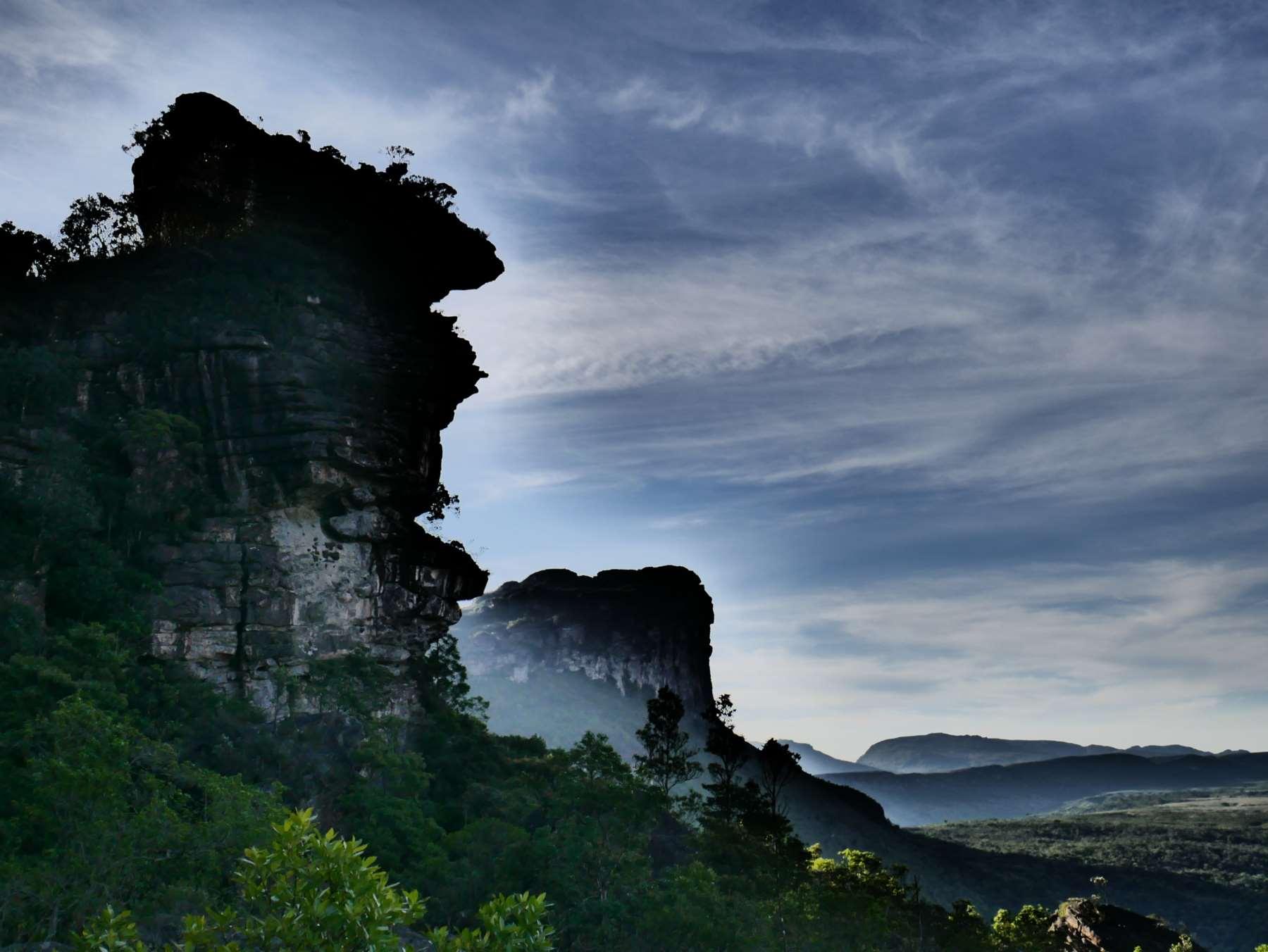 Em cima do Morro do Castelo, Vale do Pati, Chapada Diamantina, Bahia, Bahia, Brazil